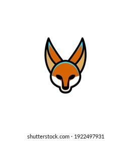Simple Mascot Logo Design a fox. Abstract emblem, design concept, vector, logo, logotype element for template