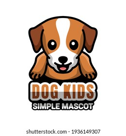 Simple Mascot Vector Logo Design of Dog Kids