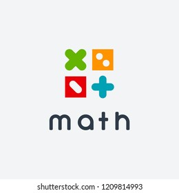 Simple Math Education logo designs concept vector