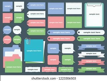 Simple memo pad set