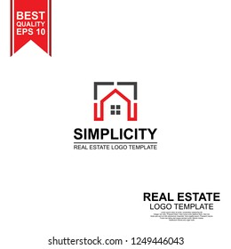 simple minimal real estate logo template