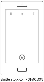 a simple and minimal smartphone camera user interface vector illustration