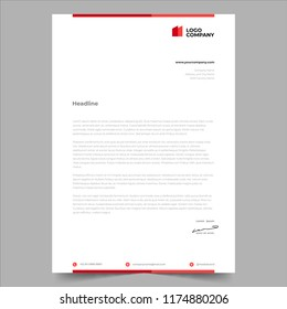 simple minimalist design style letterhead template design