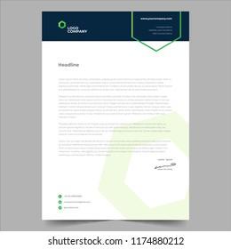 simple minimalist design style letterhead template design