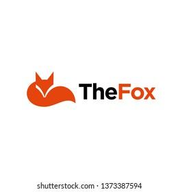 simple minimalist geometric fox, wolf logo design vector template illustration. universal fox symbol icon. media, technology, website, company symbol icon