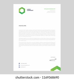 simple minimalist letterhead