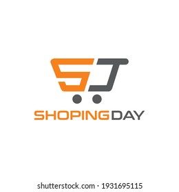 simple and minimalist logo for shoping