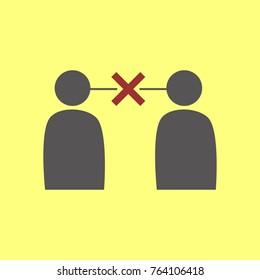 Simple Miscommunication Symbol Vector Graphic Illustration Design
