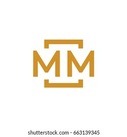 Simple MM initial Logo designs template vector illustration