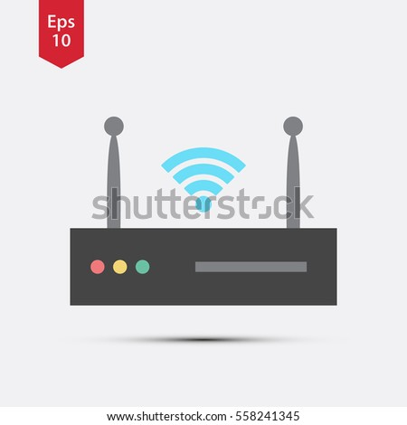 simple modem icon  flat symbol of internet router  vector illustration