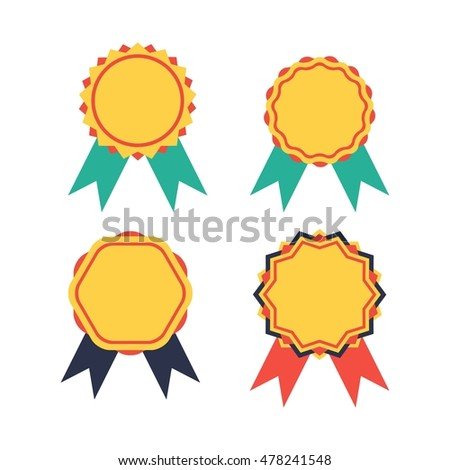 Simple Modern Award Badge Design Template Stock Vector (Royalty Free ...