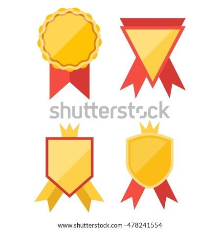 Simple Modern Award Badge Design Template Stock Vector Royalty Free