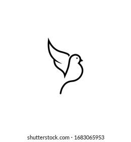 simple and modern bird logo