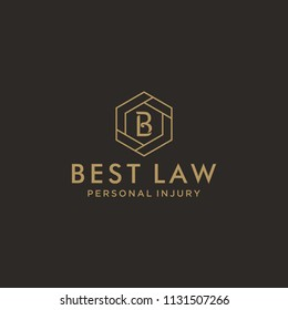 Simple / modern BL logo initials for law firm.