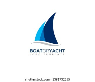 simple modern boat yacht mainsail intersect with ocean water wave bellow