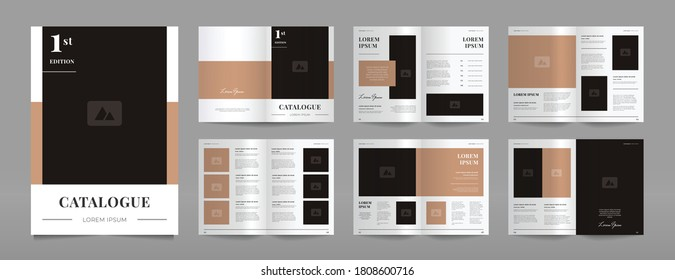 simple modern brown catalogue design template