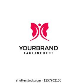 Simple modern butterfly Logo template vector