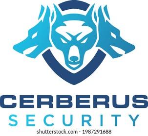 Simple and modern cerberus logo for company, business, community, team, etc.
