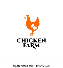 Simple Modern Chicken Farm Logo Design, for Agriculture Template illustration and Graphic Vector Element