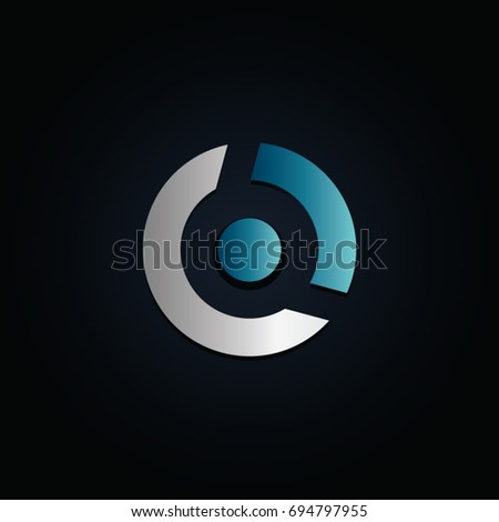 simple modern circular logo template stock vector royalty free