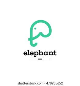 Simple modern elephant logo