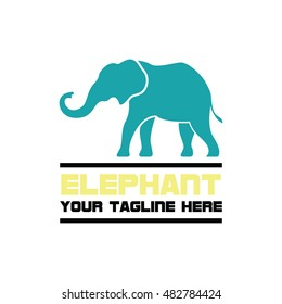 Simple modern elephant logo