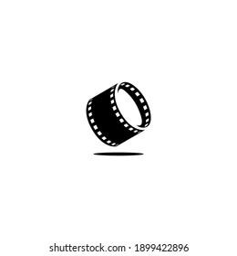 simple modern film roll Logo Designs