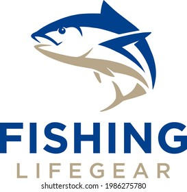 Simple and modern fish logo for company, business, community, team, etc.