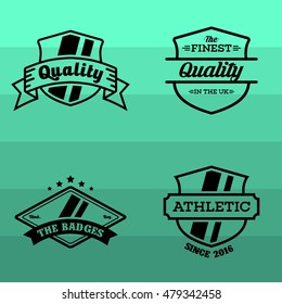 Simple modern flat retro badges and emblem