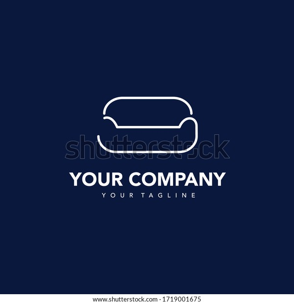 Simple Modern Furniture Company Logos Stock Vector Royalty Free 1719001675