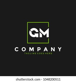 Simple modern GM logo
