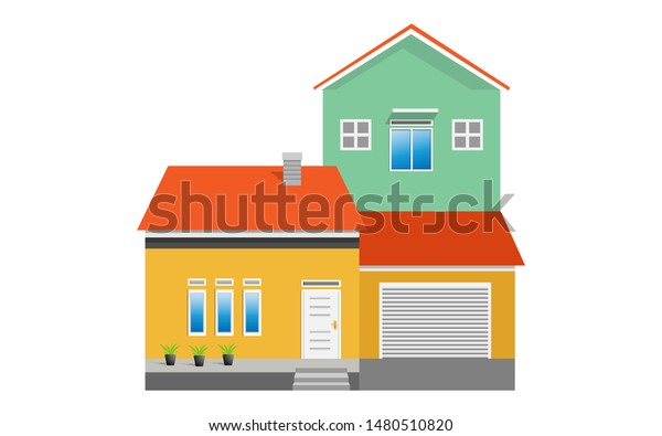 Simple Modern House Exterior Front View | Royalty-Free Stock ...