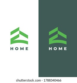 Simple and modern house logos. calm, minimalist and professional. logos for real estate, building, houses, etc.