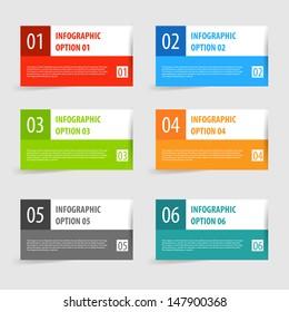 Simple modern infographics options banner set. Vector illustration.