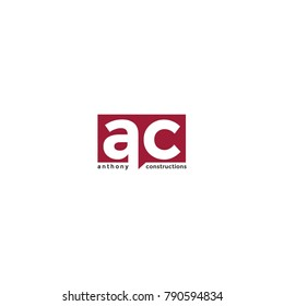 Simple modern letter AC logo template