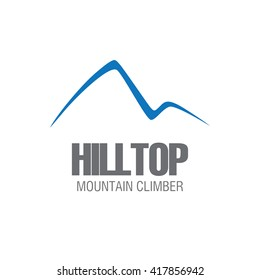 Simple modern line art Mountain Icon design in vector format on white isolated background