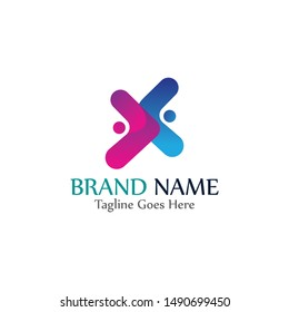 Simple and modern logo of letter X for business vector design