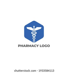 simple and modern logo for pharmacy clinic