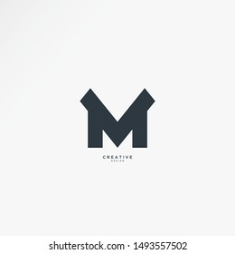Simple and Modern M logo, the design can be edited according to your wishes and needs. suitable for technology companies and so on.