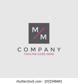 Simple modern MM logotype