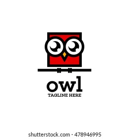 Simple modern owl logo template