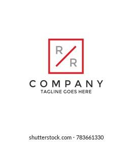 Simple modern RR logo