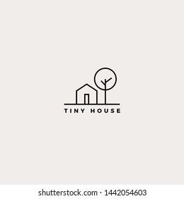 Simple Modern Tiny House Logo Design