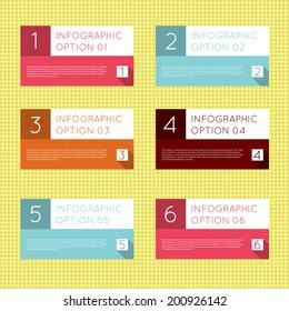Simple modern vintage flat infographics options banner set. Vector illustration for games, tablets, smart phones, gui and ui.