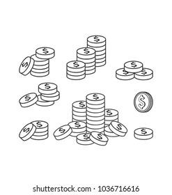 simple money icon vector template