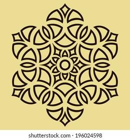 simple monochrome round symmetry pattern