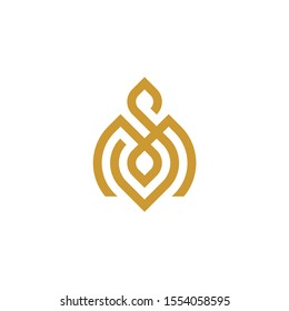 simple monogram letter sm/ms logo