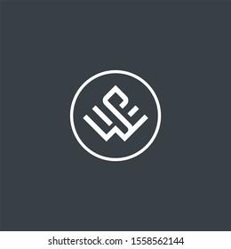 simple monogram letter SW logo