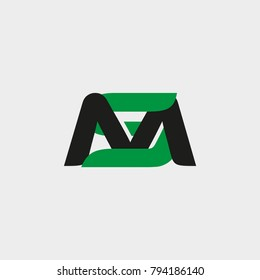 Simple monogram logo M and S letter idea