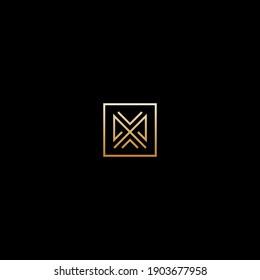 Simple monogram minimal initial letter M, MM vector logo design